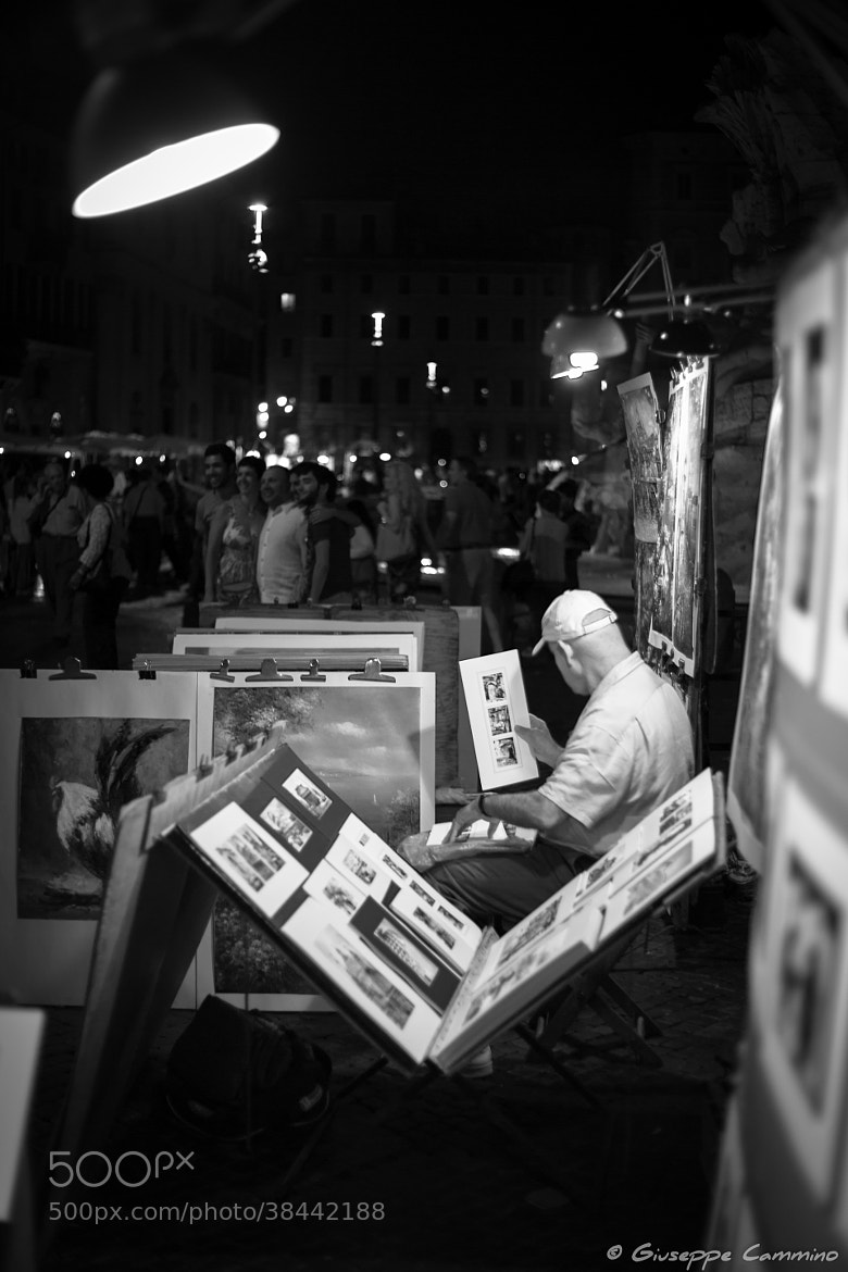 Photograph The artist checks his works by Giuseppe Cammino on 500px