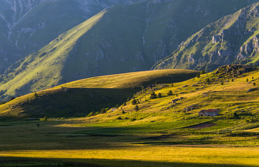 Photograph Light and shadows in landscape in Gran Sasso by Hans Kruse on 500px