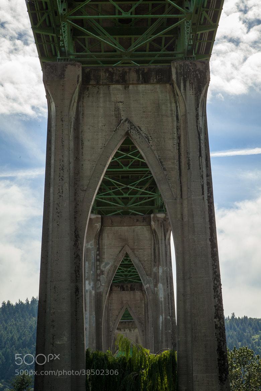 Photograph Recursion - St. John Bridge by Alex Scoble on 500px