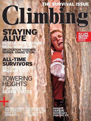Photograph Cover of Climbing Magazine by Alex Ekins on 500px