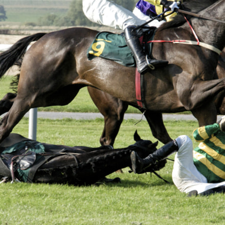 Jockey A.P. McCoy Falling During Race