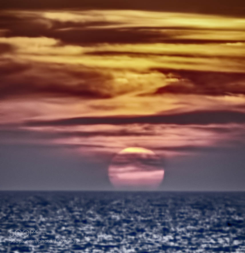 Photograph Ocean Sunset by Albert Bitton on 500px