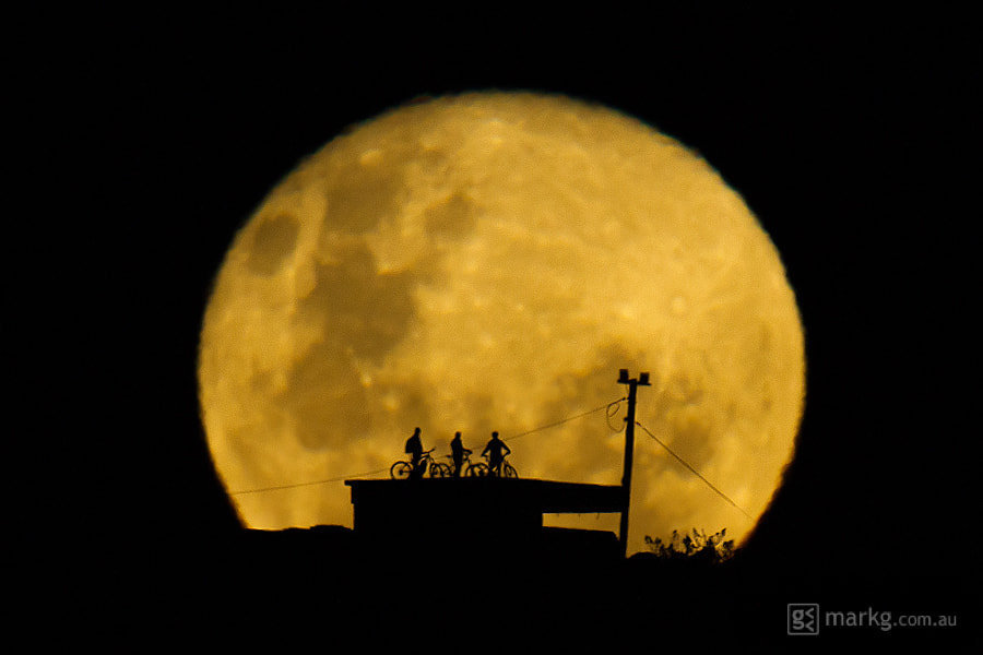 Photograph Supermoon Bikers 2013 by Mark Gee on 500px