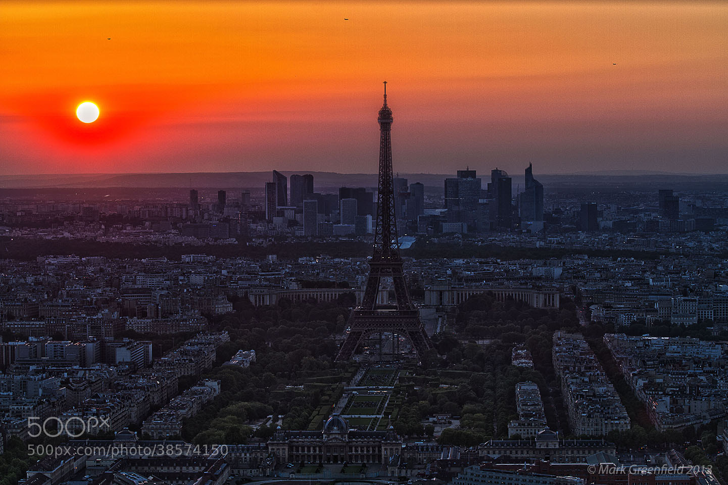 Photograph Eiffel Tower Sunset by Mark Greenfield on 500px