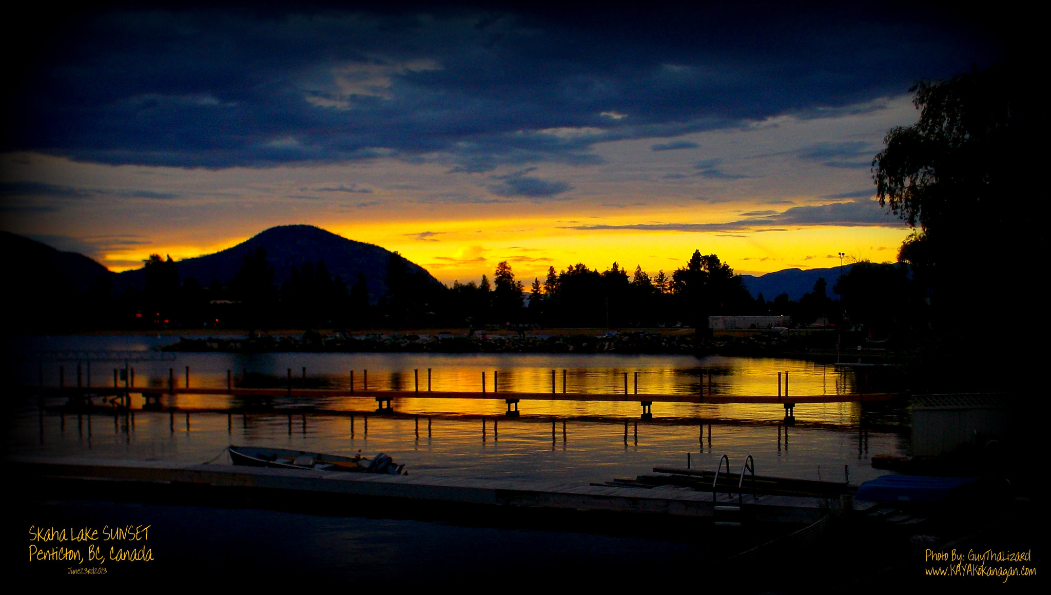 Photograph Skaha Lake SUNSET by Guy Hoffman on 500px