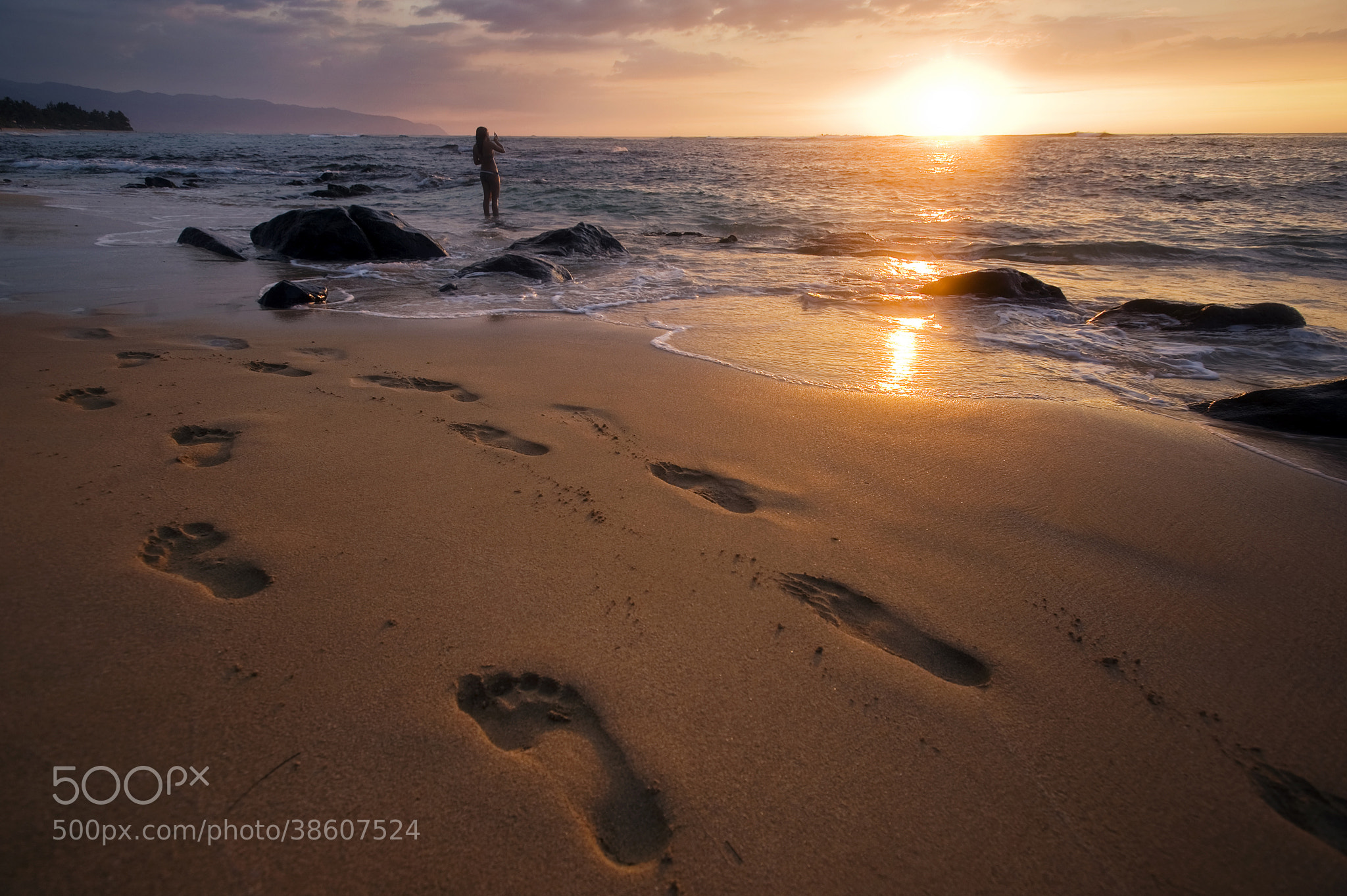 Photograph Footprints In the Sand by Nicholas Gore on 500px