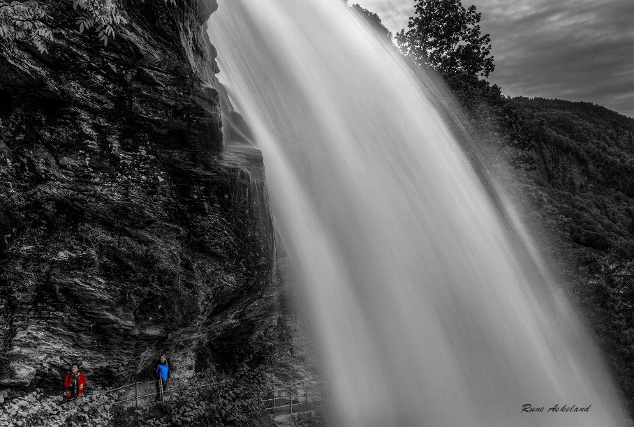 Photograph behind the falls by Rune Askeland on 500px