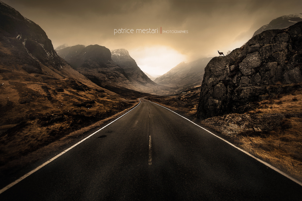 Photograph On the Road and the three sisters - Scotland by Patrice MESTARI on 500px