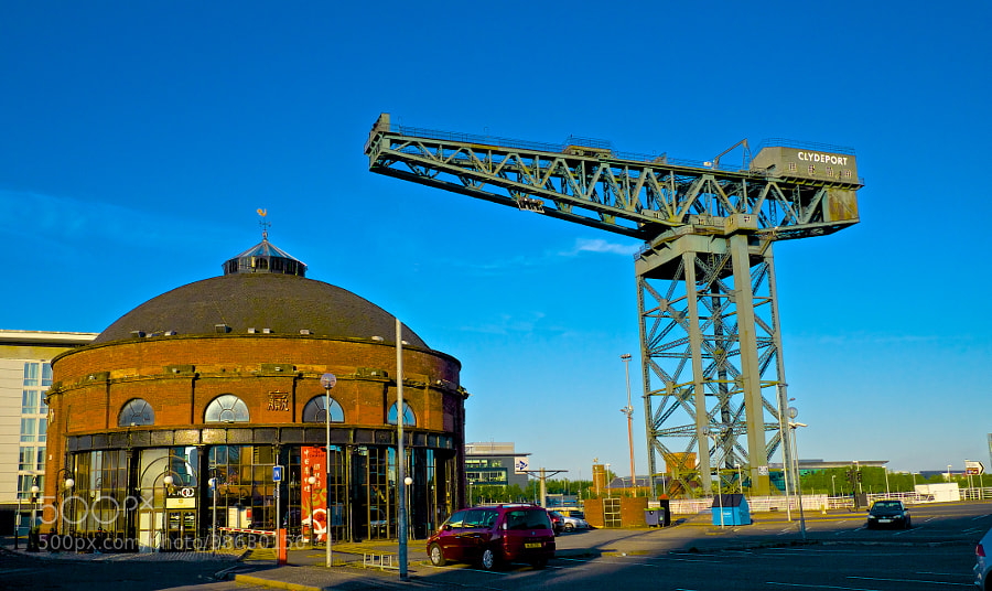 North Rotunda Building with Clydeport Crane