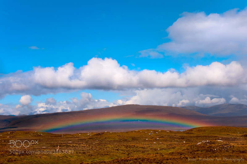 Photograph Blesses with Lucky Sign. Rainbow Over Scotland by Jenny Rainbow on 500px