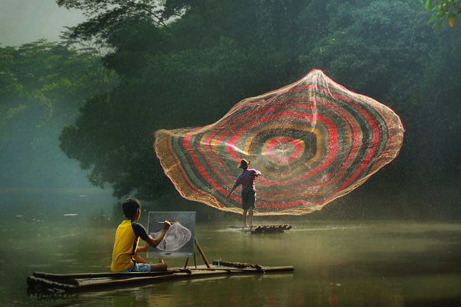 Photograph painting for father by asit  on 500px