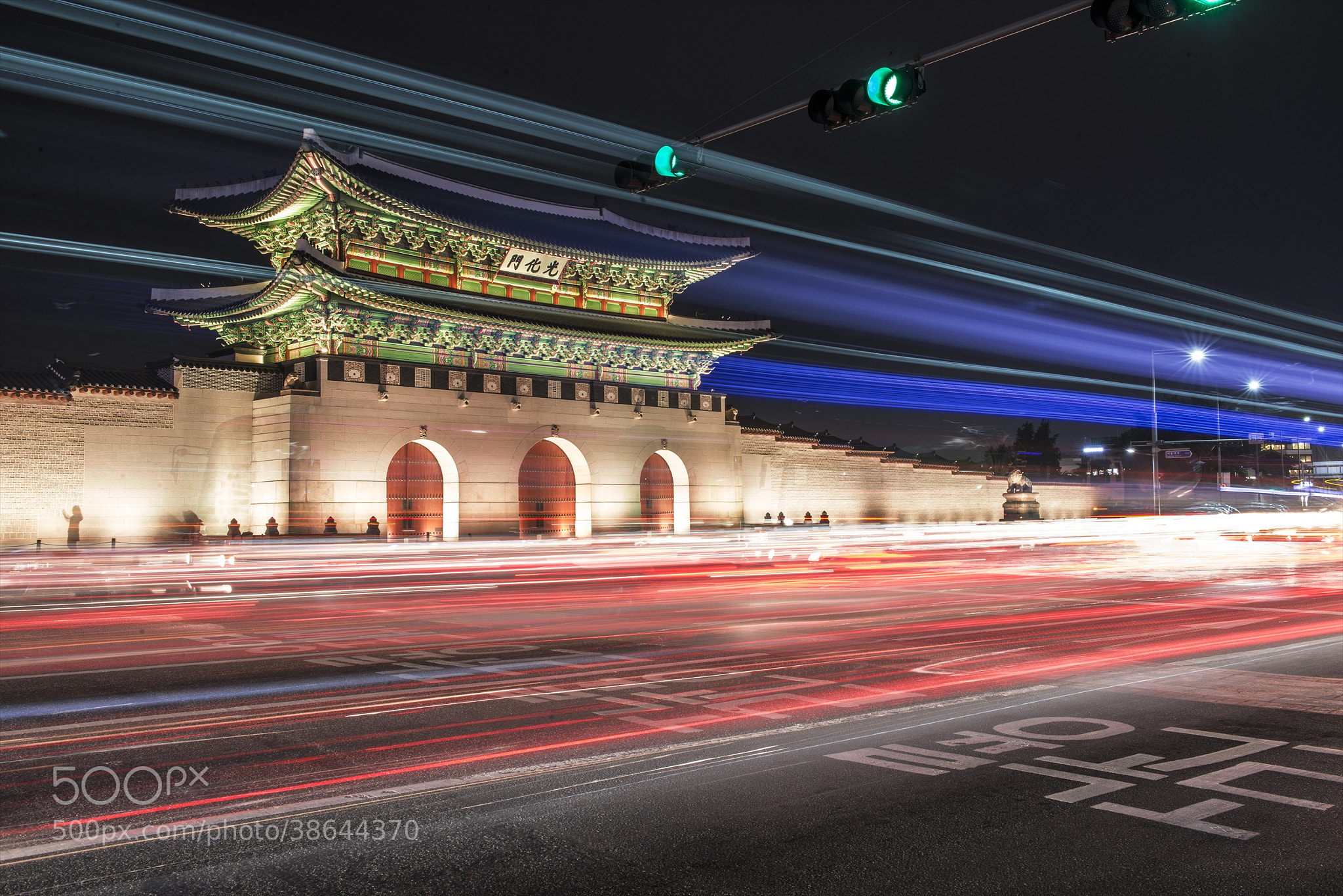 Photograph Green Light = Light Trails by hugh dornan on 500px