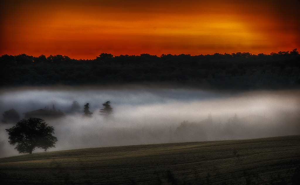 Photograph Fog on the hill - Tuscany june 2013 by Giuseppe De Luccia on 500px