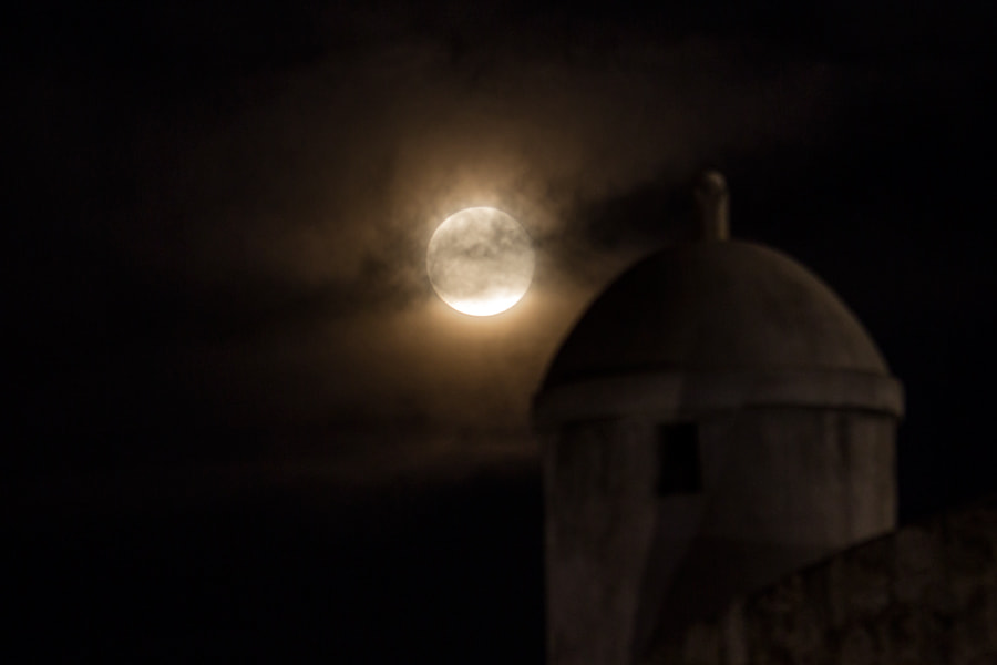 Photograph Mystical moon over Dubrovnik city walls  by Hrvoje  Margaretic on 500px