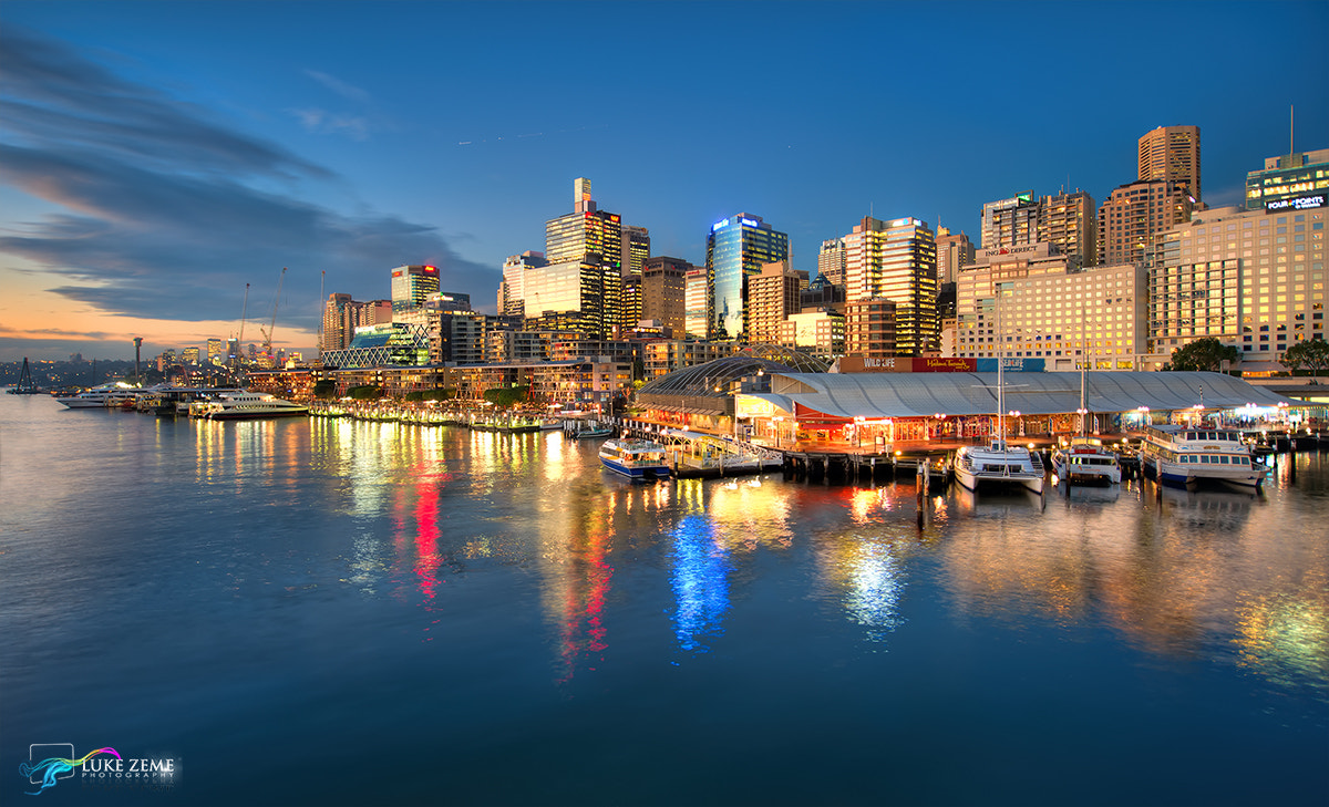 Photograph Golden hour at King St Wharf by Luke Zeme on 500px