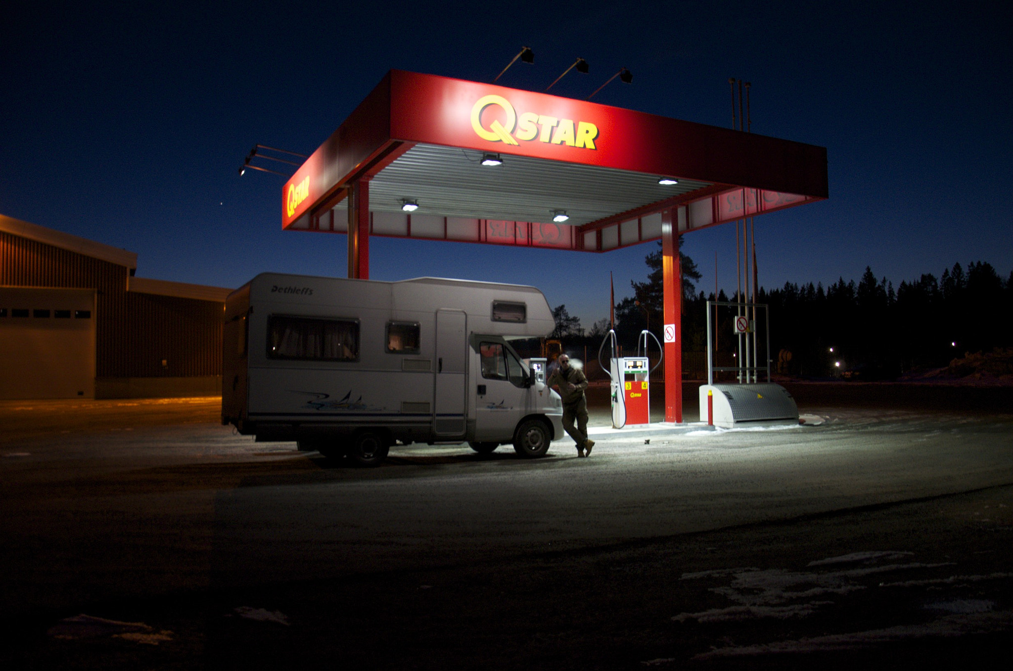 Photograph Recreational Vehicle at Gas Station by Jarkko Tervonen on 500px