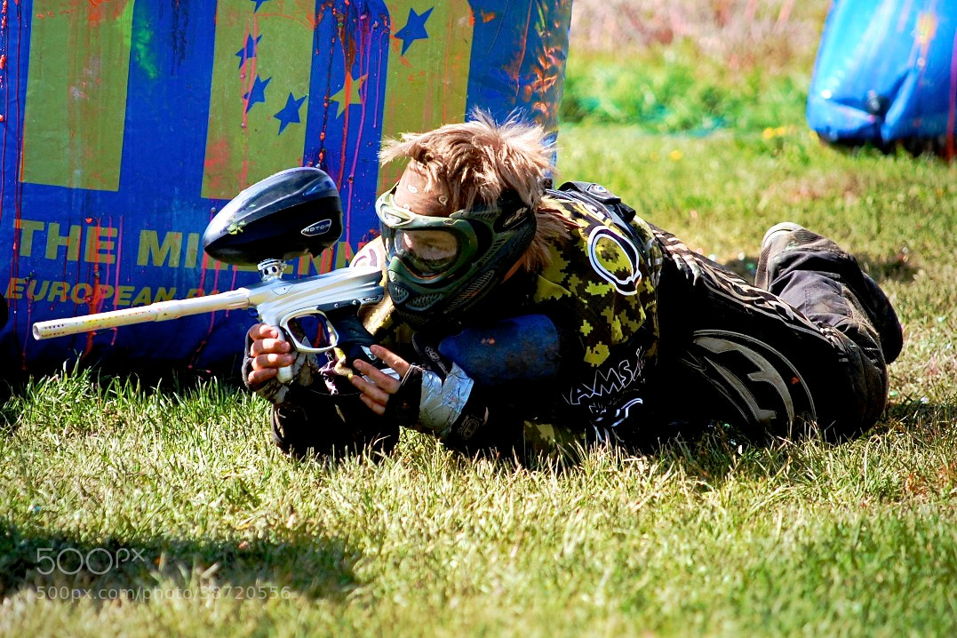 Photograph Paintball Player Crawling by Jarkko Tervonen on 500px