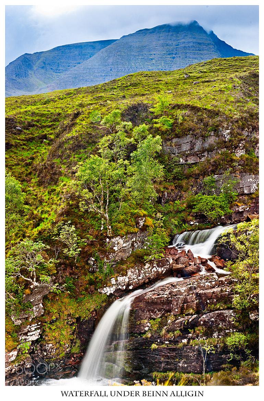 Photograph Waterfall under Beinn Alligin by Maciej Markiewicz on 500px