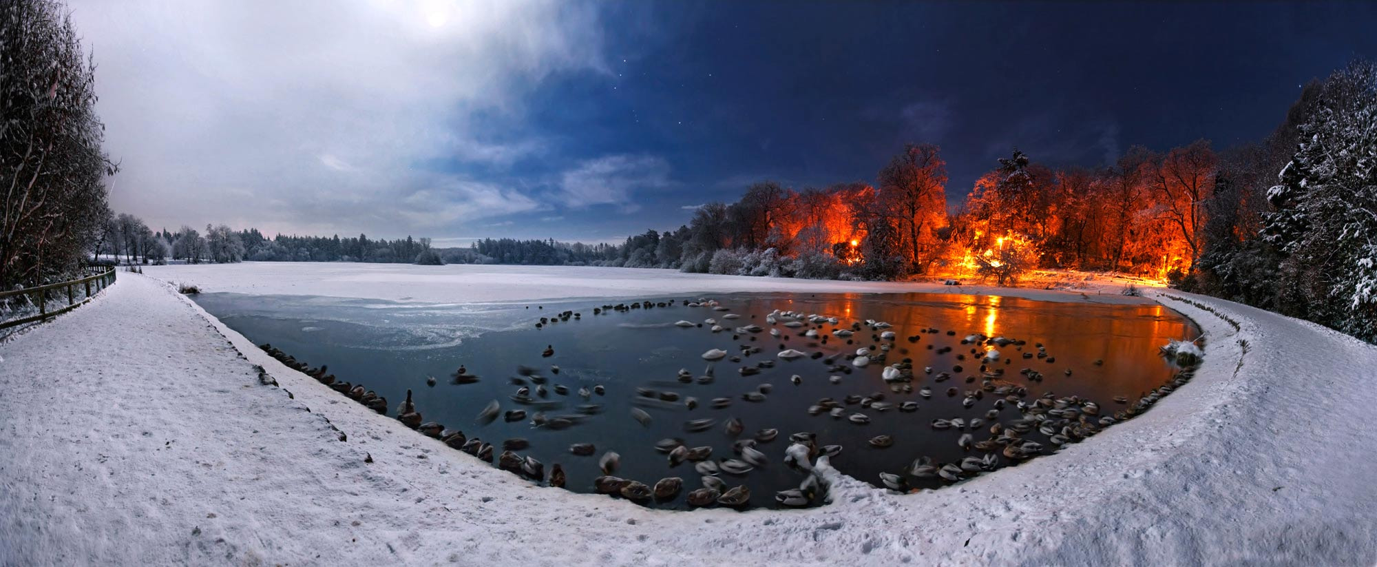 Photograph Midnight Lake by Stephen Emerson on 500px