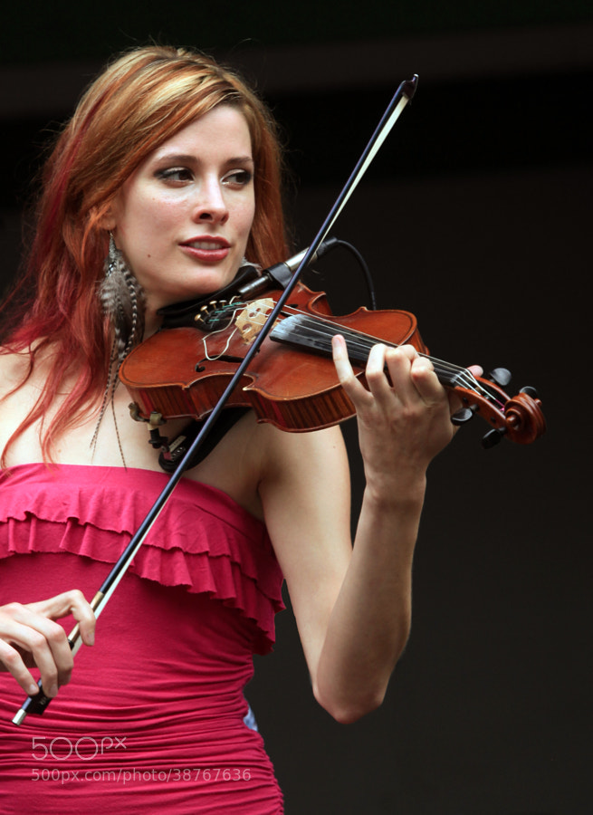 Avanka Watkin, former fiddle player for the celtic group, The Town Pants.