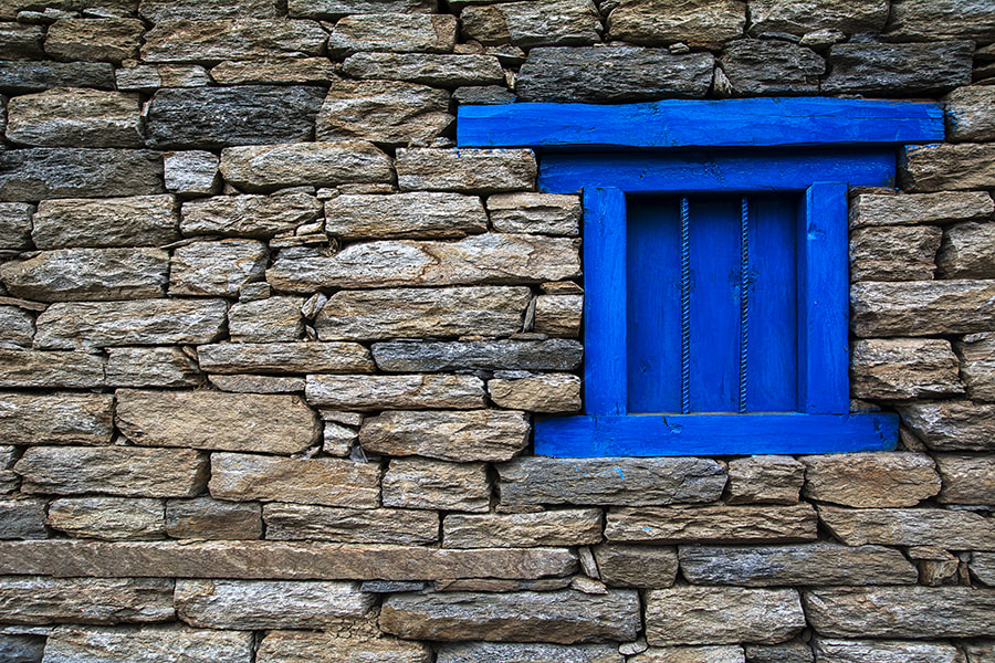 Photograph Blue Window by Sourik Ghosh on 500px
