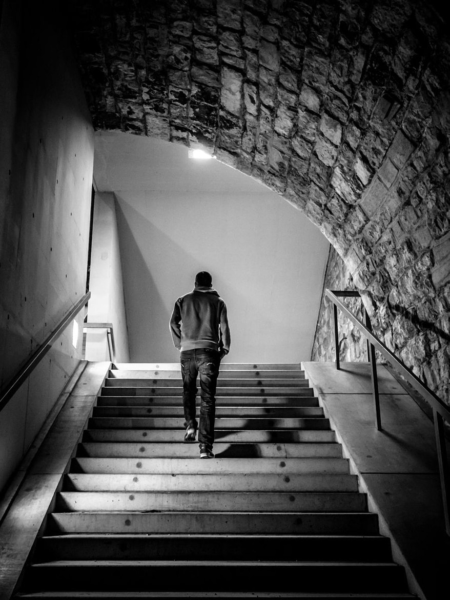 Photograph stairs & lights by phil outside on 500px