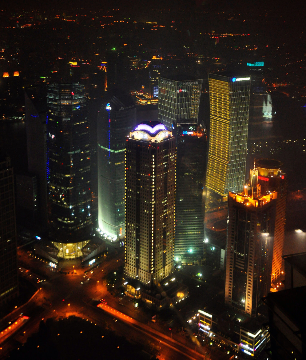 Photograph Shanghai skyline from the pudong tower . China  by Mark Hopkins on 500px