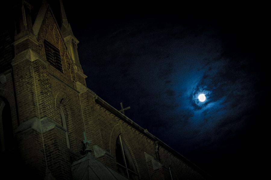 Moon over Church
