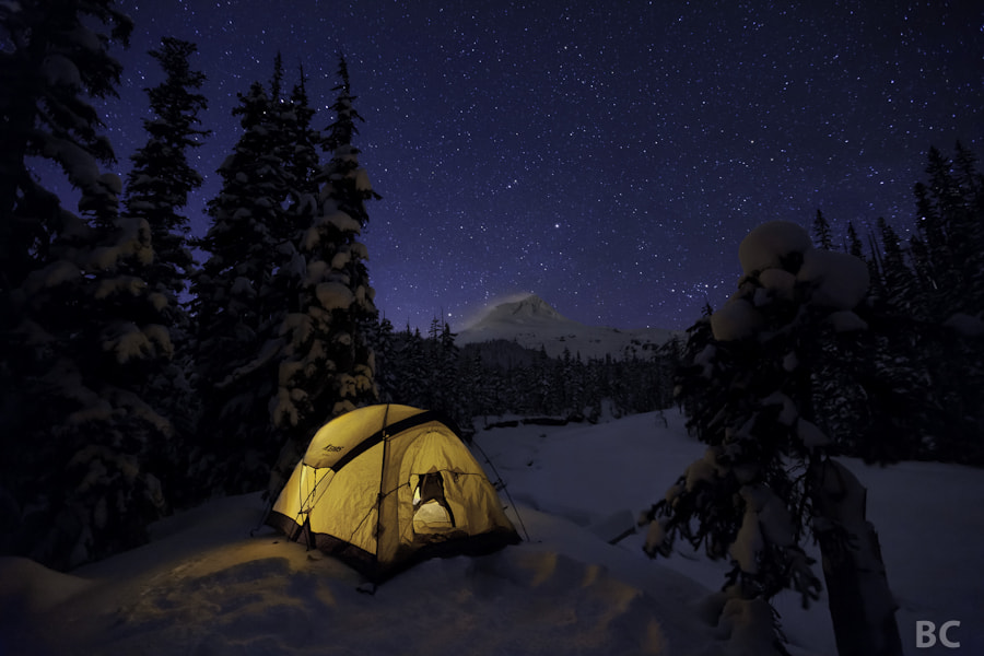 It was a VERY cold night out camping! But, beautiful :-)