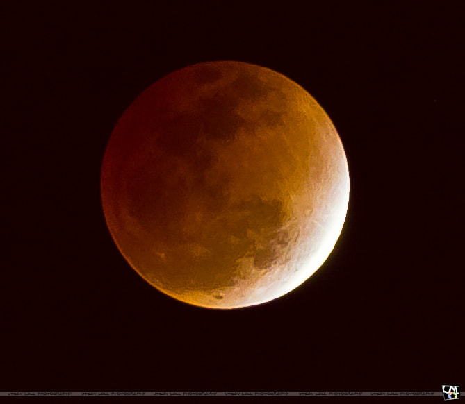 Photograph Lunar Eclipse by Utsav Lall on 500px