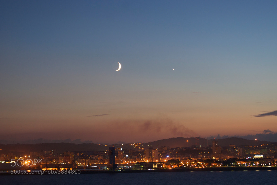 Photograph moon over coruña by Luis Martínez on 500px