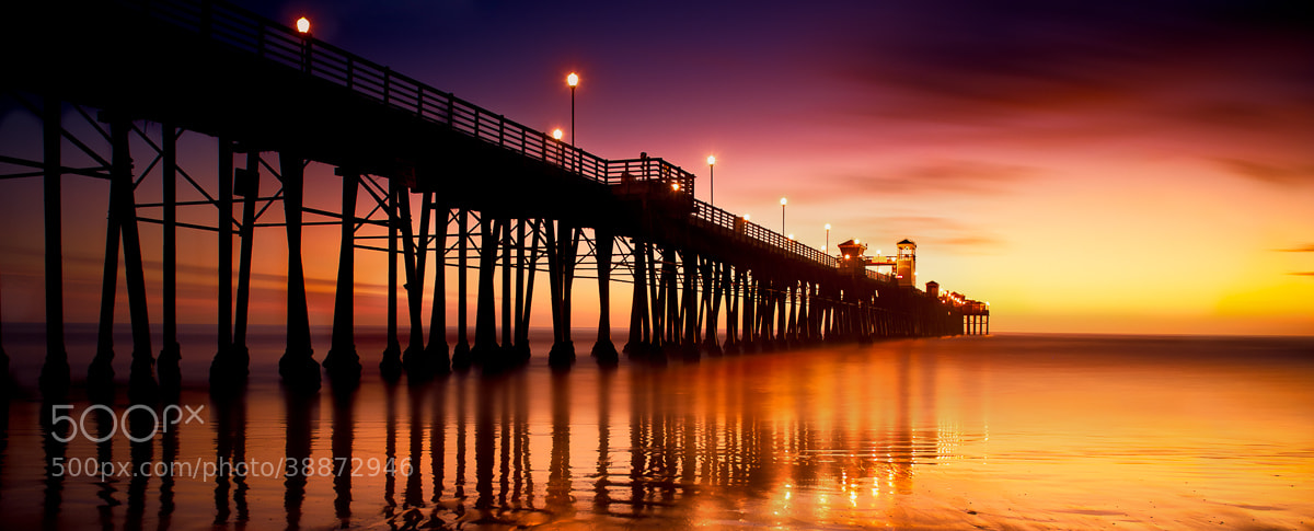 Photograph Sunset Pier by FischerJones Galleries on 500px
