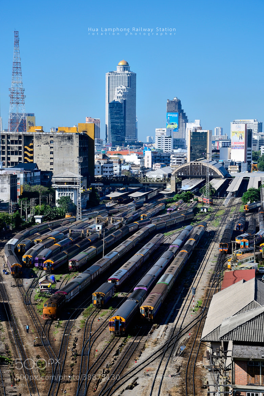 Photograph Clear blue sky over Bangkok Railway by Jirawas Teekayu on 500px