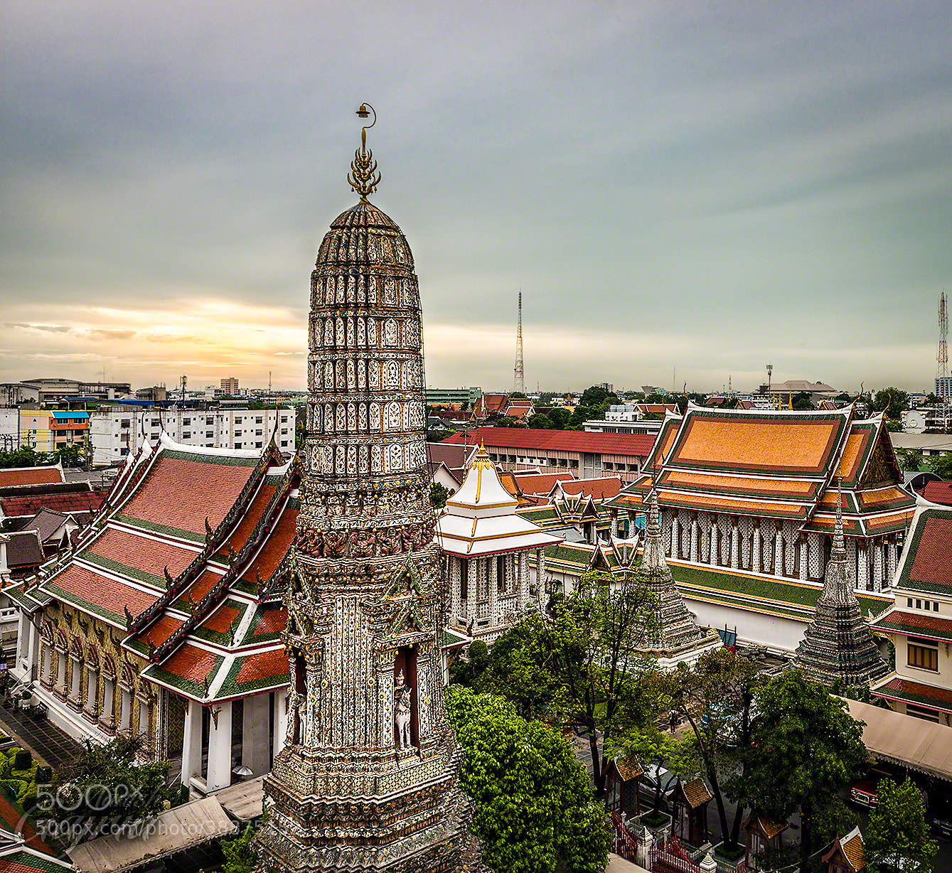 Photograph Sunset over Wat Arun by Manish Gajria on 500px