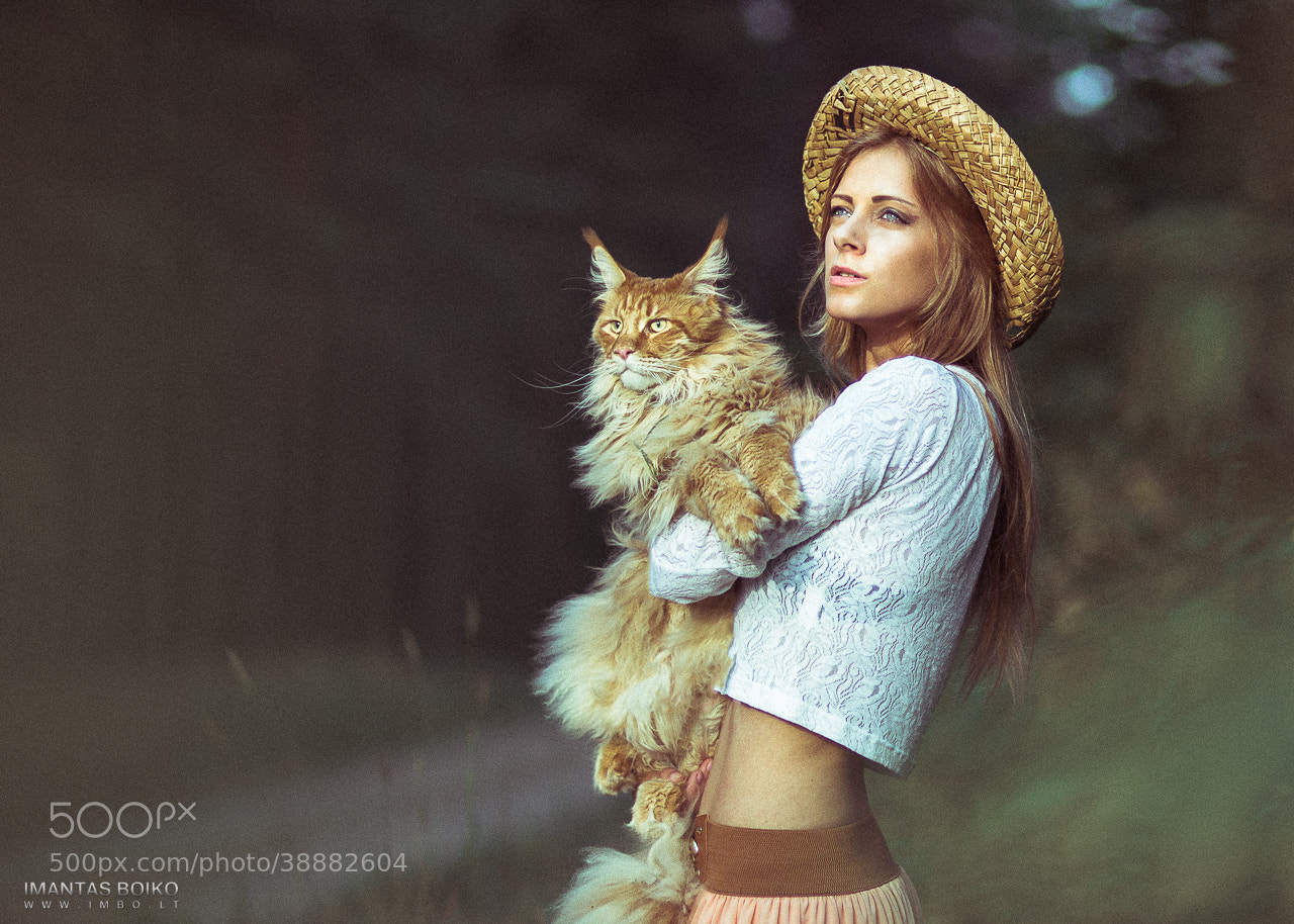 Photograph Girl&Cat by Imantas Boiko on 500px