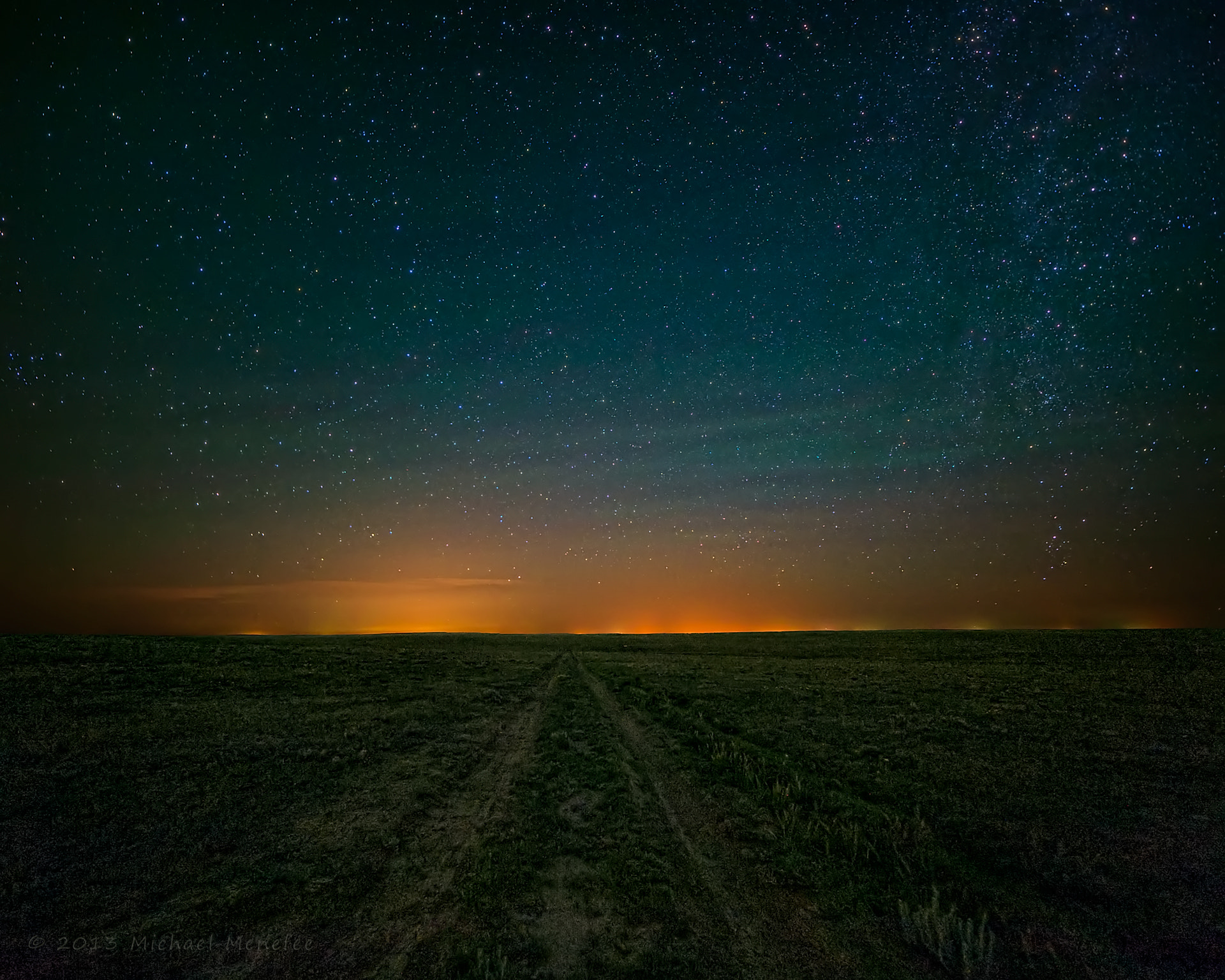 Photograph Luminescent Night Sky on the Pawnee by Michael Menefee on 500px