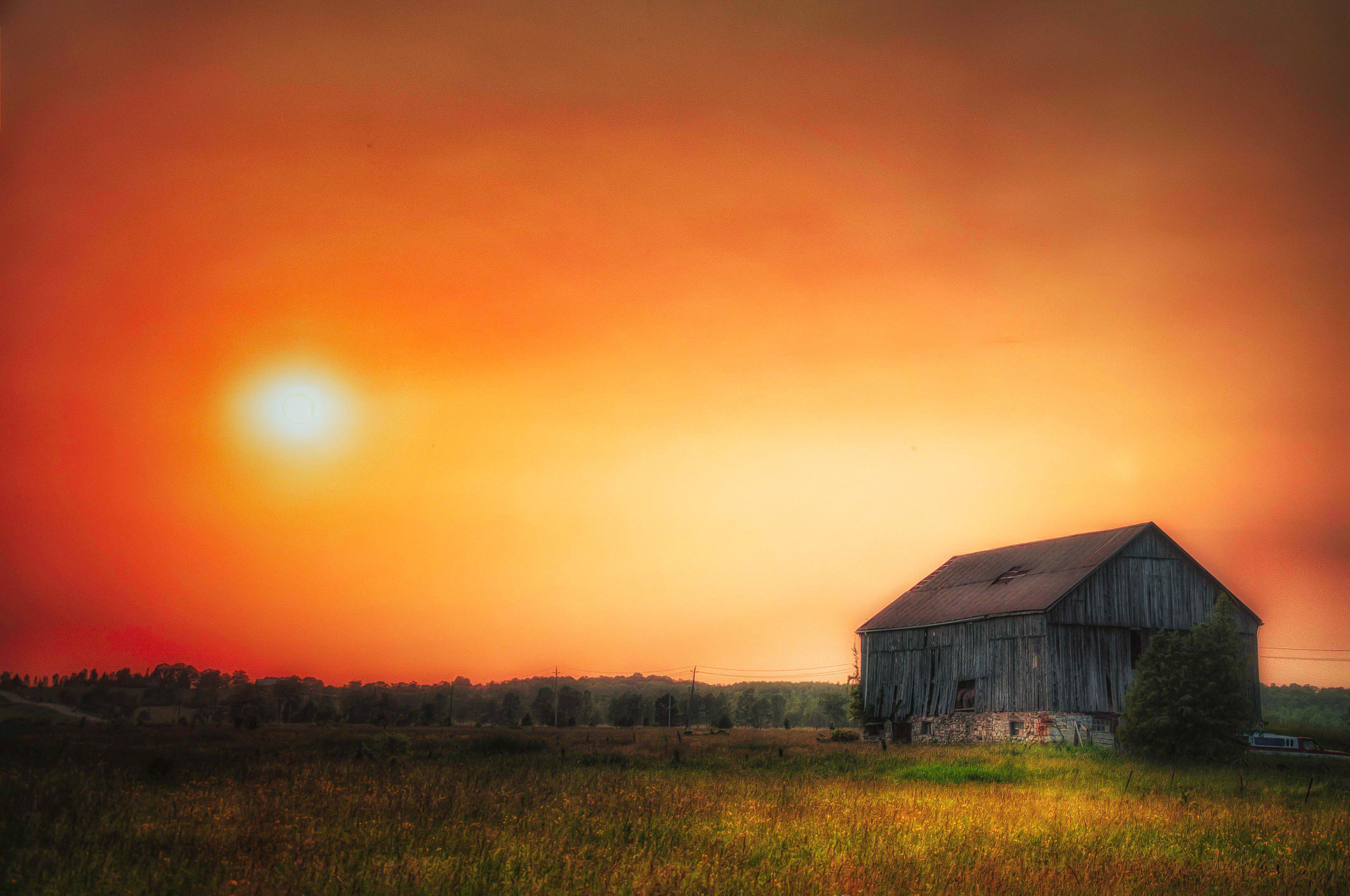 Photograph Sunset Farm by Paul  Murphy on 500px