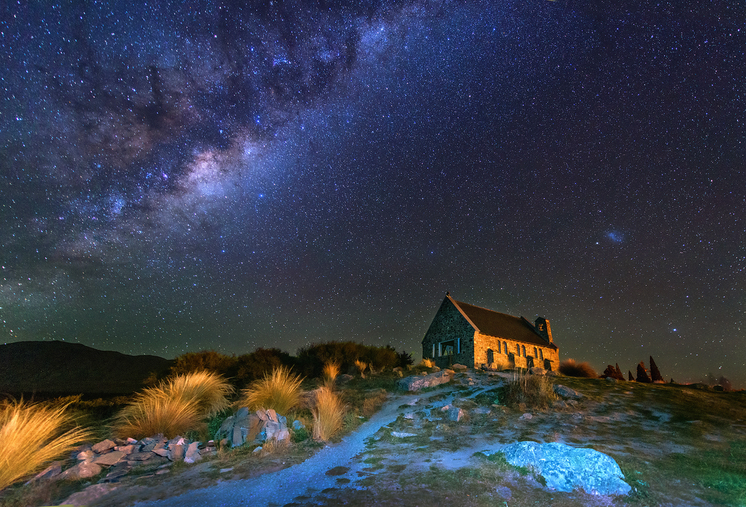 Photograph Church of the Good Shepherd, Lake Tekapo, New Zealand by sarawut Intarob on 500px