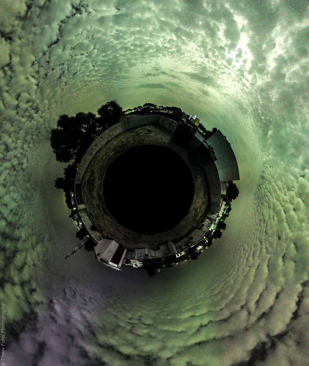 """Photograph Little Planet of the Panorama : """"Moon playing Hide and Seek"""" by Dhruv Patel on 500px"""