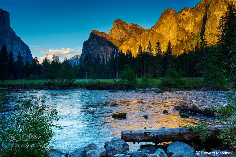 Photograph Sunset at Merced River - Yosemite by Edward Marcinek on 500px