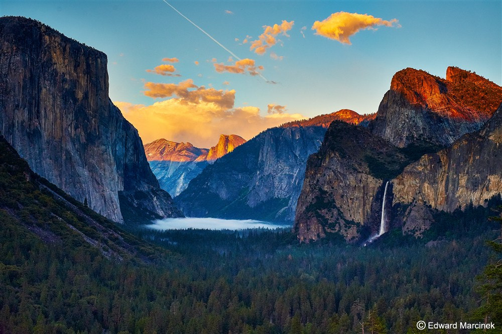 Photograph Sunset at Tunnel View - Yosemite Valley by Edward Marcinek on 500px