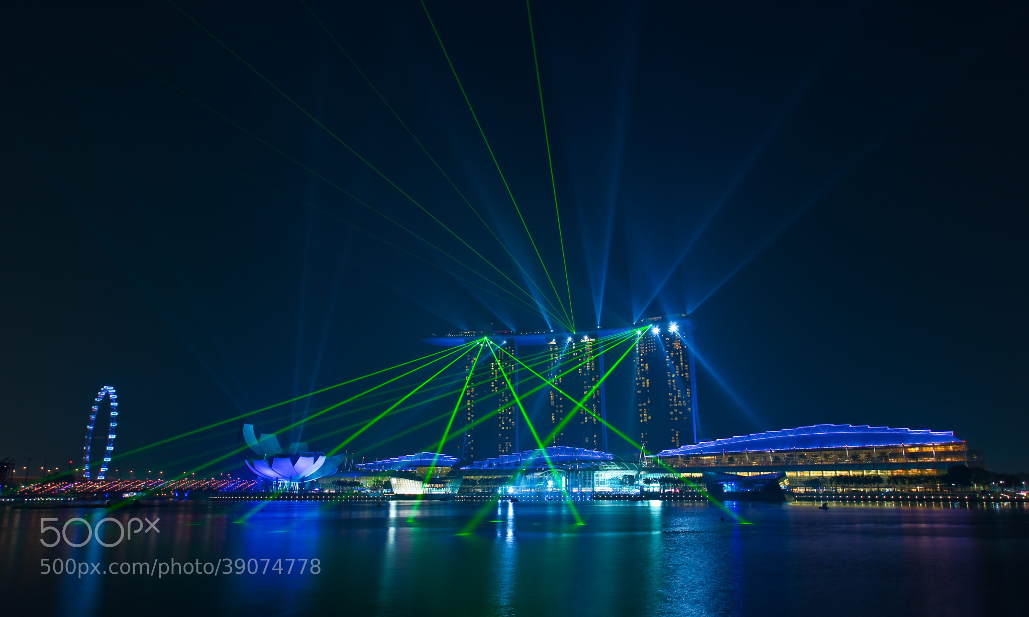 "Photograph ""LASER BARRAGE"" by Antonio Obispo on 500px"