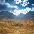 Постер, плакат: View from the Chinggel Pass Nepal Upper Mustang