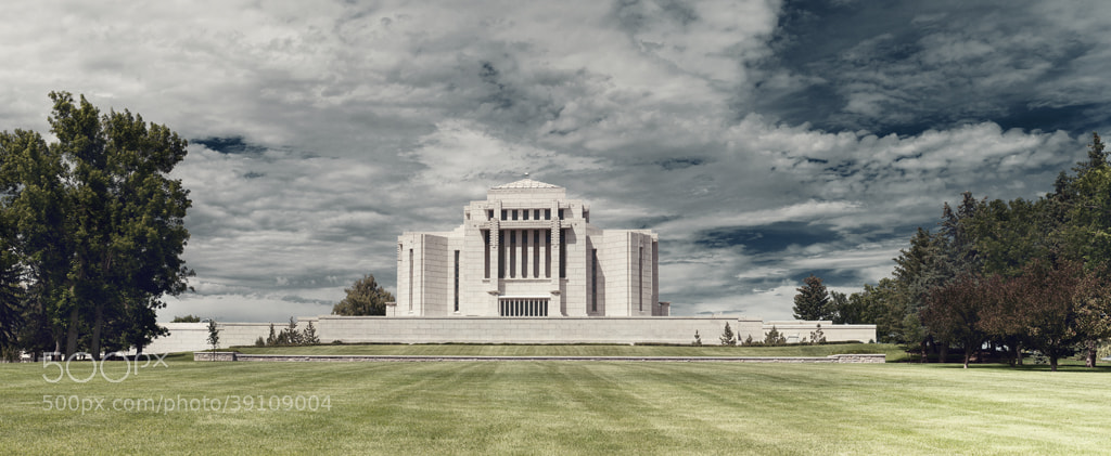 Photograph Cardston Alberta Temple by Dmitry Nekhoroshkov on 500px