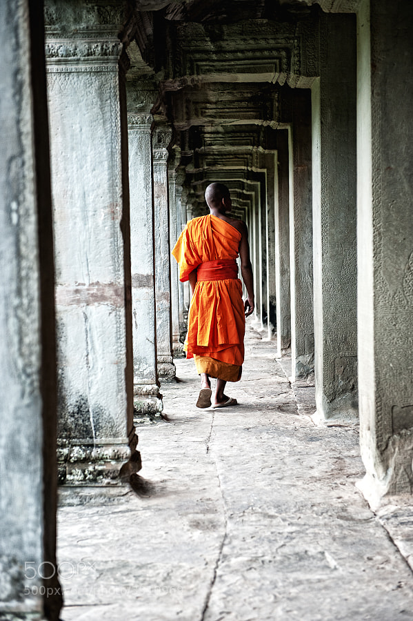 Photograph Monk in the Gallery by James Stone on 500px