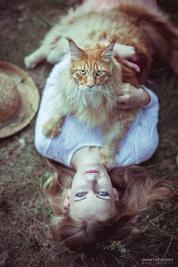 Cat&girl by Imantas Boiko on 500px.com
