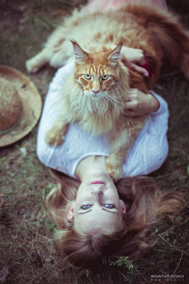 Photograph Cat&girl by Imantas Boiko on 500px