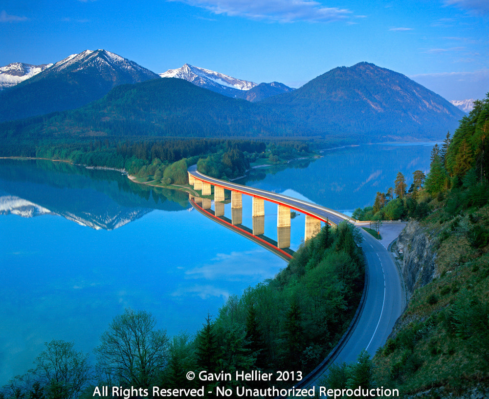 Photograph Germany, Bavaria, Road Bridge over Lake Sylvenstein  by Gavin Hellier on 500px