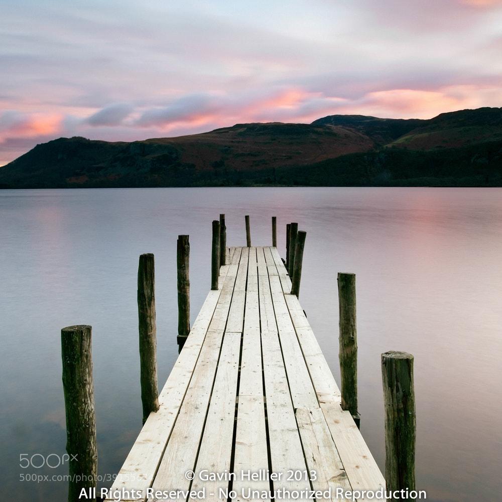 Photograph Brandelhow Bay jetty at dawn, Derwentwater, Keswick, Lake District National Park by Gavin Hellier on 500px