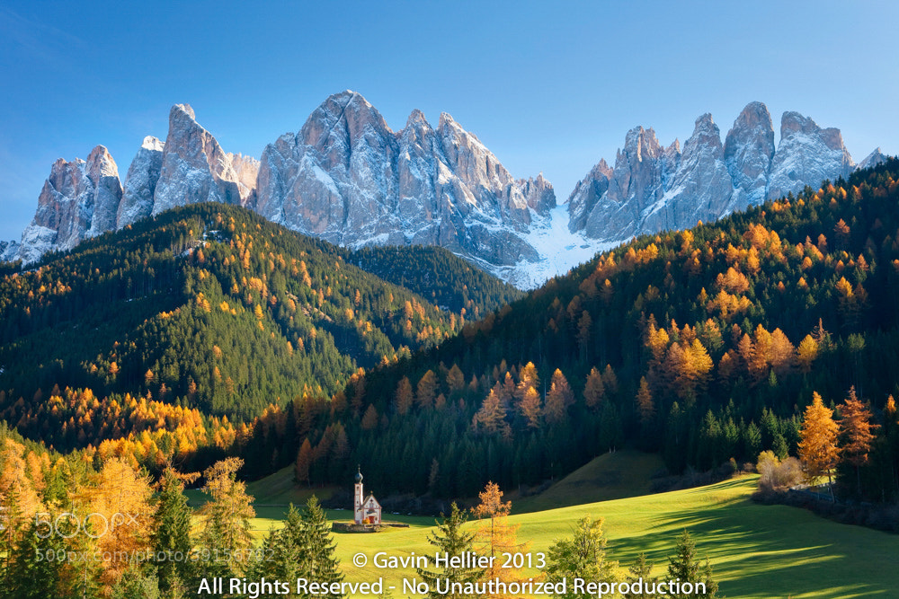 Photograph St. Johann Church, The Dolomites, Geisler Gruppe, Trentino-Alto Adige, Italy by Gavin Hellier on 500px
